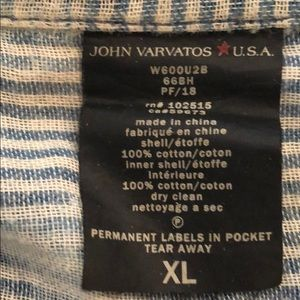 John Varvatos Shirts - John Varvatos blue casual cotton men's xl